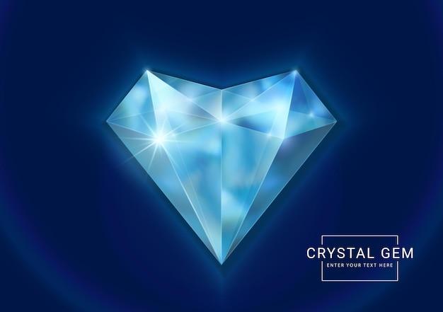 ハートの多角形の石のファンタジークリスタルジュエリーの宝石