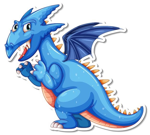 Наклейка с персонажем мультфильма фэнтези дракон
