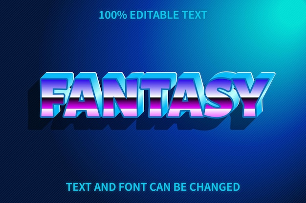 Fantasy editable text effect retro style