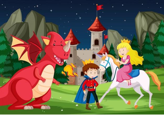 A fantasy fairy tale story scene