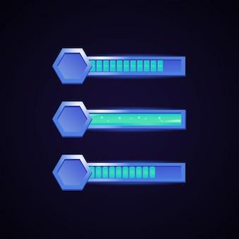 六角形のフレームの境界線を持つファンタジーゲームバー
