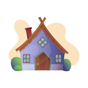 Fantasy house vector cartoon fairy treehouse and housing village illustration set of kids fairytale playhouse isolated