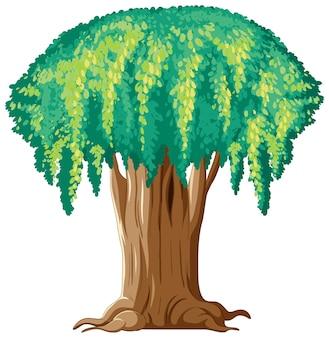 흰색 바탕에 판타지 거 대 한 나무