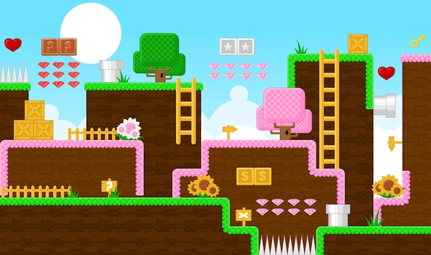 Fantasy land game tileset