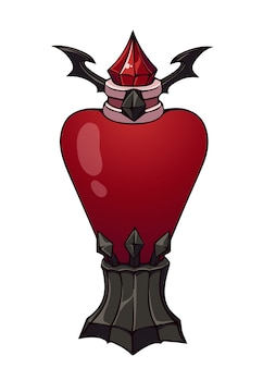 Fantasy magic bottle. hand drawn  illustration. isolated object on white background.