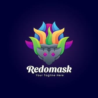 Fantasy mask logo template design