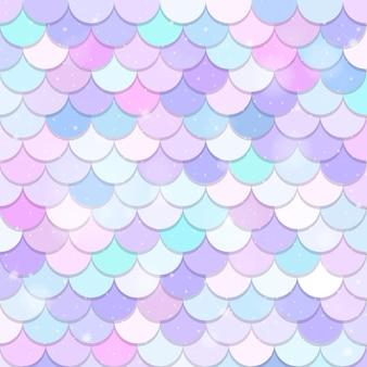 Fantasy mermaid scales seamless pattern