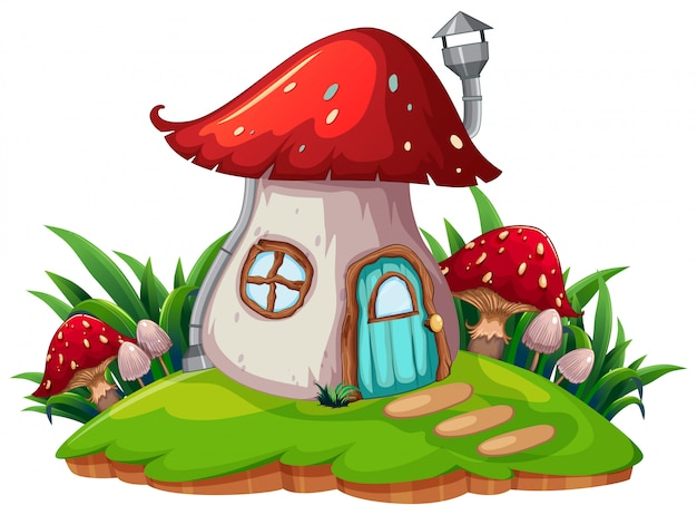 A fantasy mushroom house