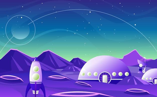 ファンタジー空間背景漫画フラットデザイン