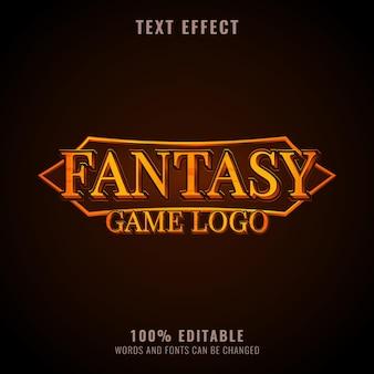 판타지 텍스트 효과 롤 플레잉 게임 로고 배지 디자인