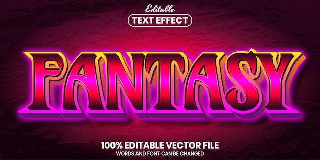 ファンタジーテキスト、フォントスタイルの編集可能なテキスト効果