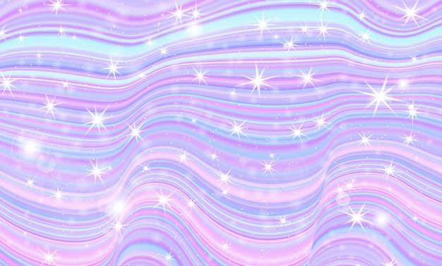 Fantasy universe. fairy background.  holographic magic stars. unicorn pattern. candy background.