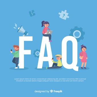 Faq concept background