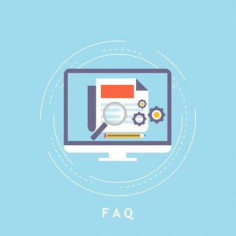 Faq concept, client assistance and customer support