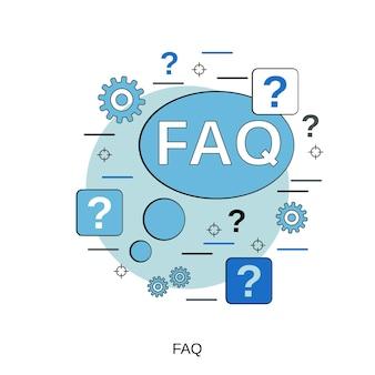 Faqフラットデザインスタイルベクトル概念図