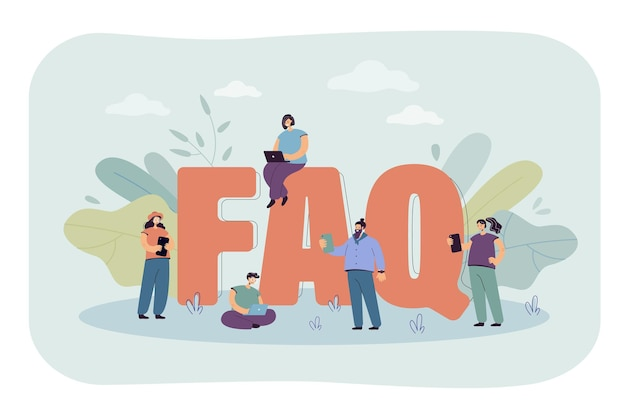 Faq flat illustration