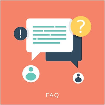 Faq flat vector icon