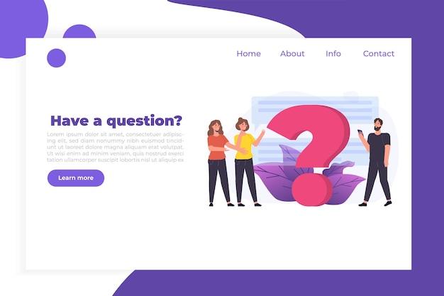 Faq, часто задаваемые вопросы, руководство пользователя или руководство, концепция центра онлайн-поддержки. люди персонажи, стоящие возле гигантского вопросительного знака.