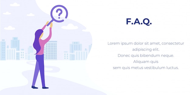 Faq service for finding answers advertising banner