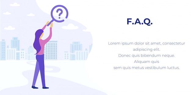 回答広告バナーを見つけるためのfaqサービス