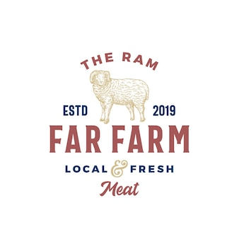 The far meat farm abstract vector sign, symbol or logo template