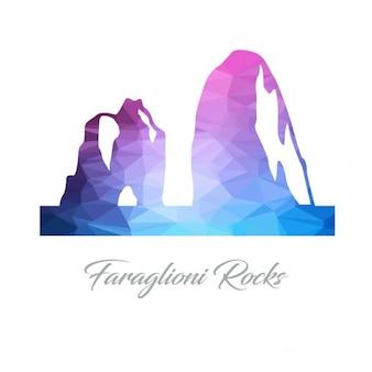 Faraglioni, polygonal