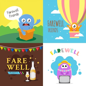 Farewell party card background design