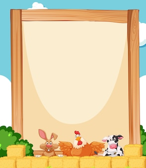 Farm animal on background with copyspace