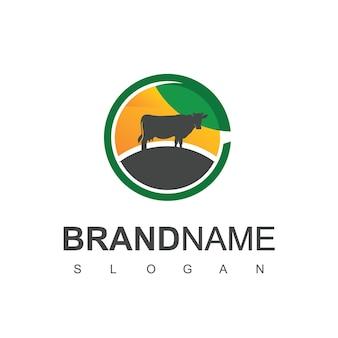 農場の動物のロゴデザインベクトル