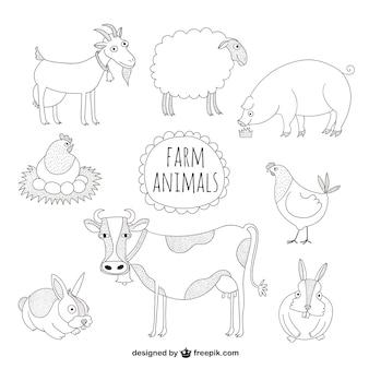 Сельскохозяйственные животные иллюстрации