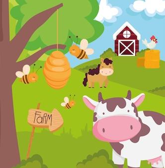 농장 동물 풍경