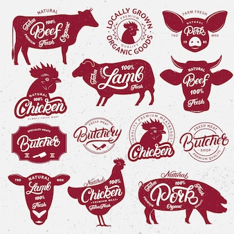 Farm animals with lettering words