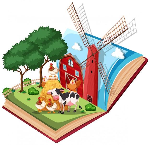 Farm book pop up