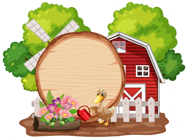 Farm building with farm animals