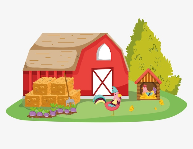 Farm cute cartoons