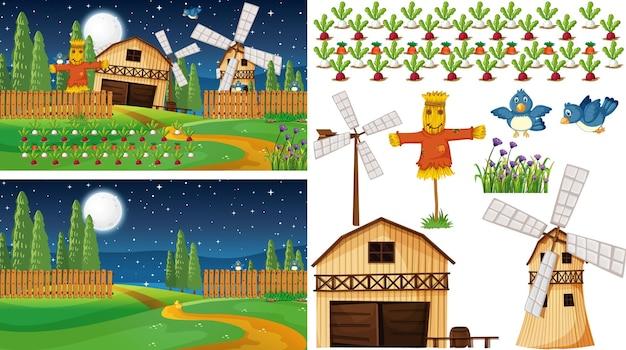 농장 현장과 격리된 농장 요소 집합
