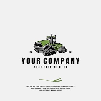 Farm equipment logo template