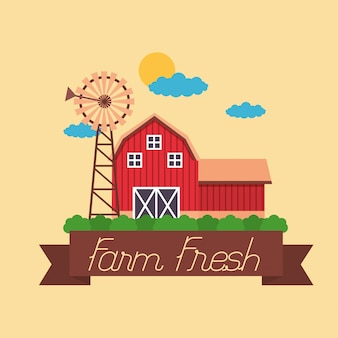 Farm fresh cartoon