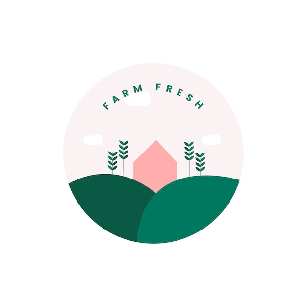 Farm fresh and organic icon