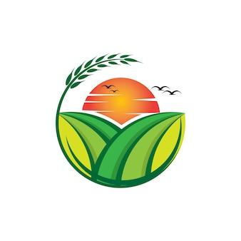 Farm garden vector logo template 01