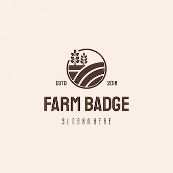 Farm house badge logo hipster retro vintage  template, agriculture logo