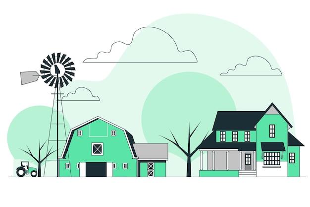 Farm house concept illustration
