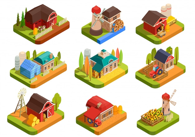 Farm isometric element set