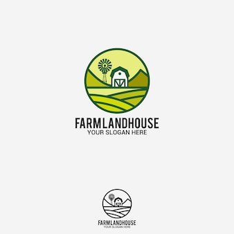 Farm land house logo