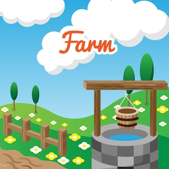 Фон ландшафта фермы