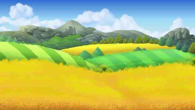 ファーム風景の背景