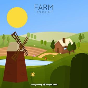 밀 농장 풍경