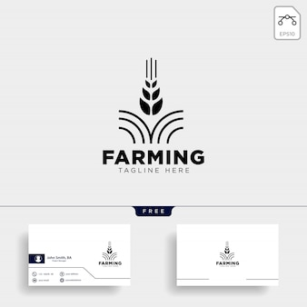 Farm logo and business card template