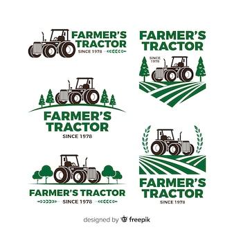 Farm logo collectio Premium векторы