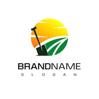 ファームのロゴデザインテンプレート Premiumベクター